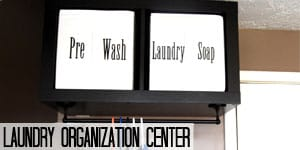 Laundry Organization Center