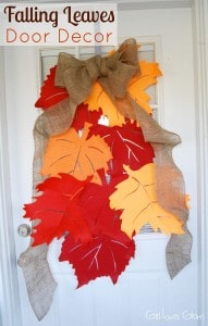 Falling Leaves Door Decor on www.girllovesglam.com