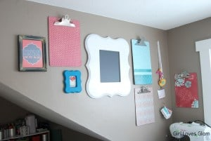 Easy Home Office Organization Gallery Wall on www.girllovesglam.com #organize #decor #office