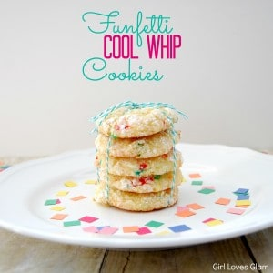Funfetti Cool Whip Cookies from www.girllovesglam.com These taste EXACTLY like you popped the top off of a cupcake! #recipe #dessert #cookie #cakemix