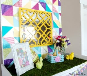 Spring and Easter decorating at www.girllovesglam.com #spring #easter #holiday