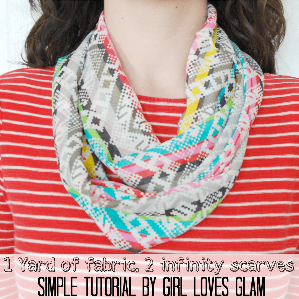 How to make a simple infinity scarf