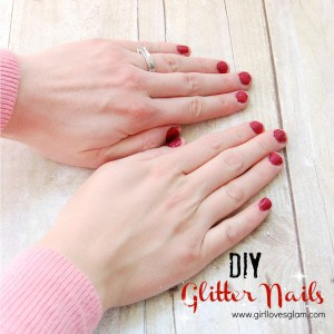 How to do glitter nails at home via www.girllovesglam.com #beauty #glitter #manicure #pedicure