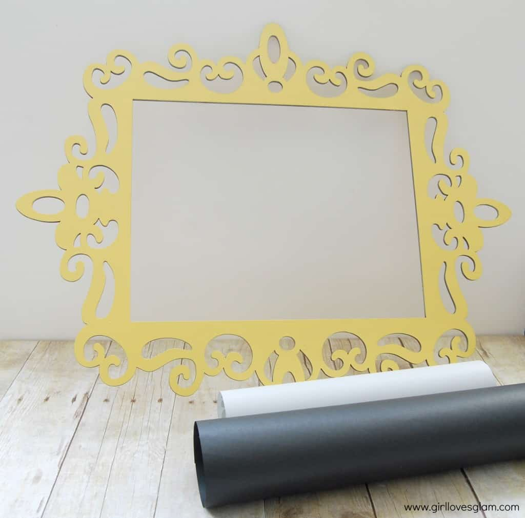 Curvy Frame DIY Faux Chalkboard Art at www.girllovesglam.com #diy #tutorial #art