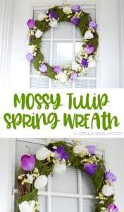 Spring Wreath Mossy Tulip Tutorial