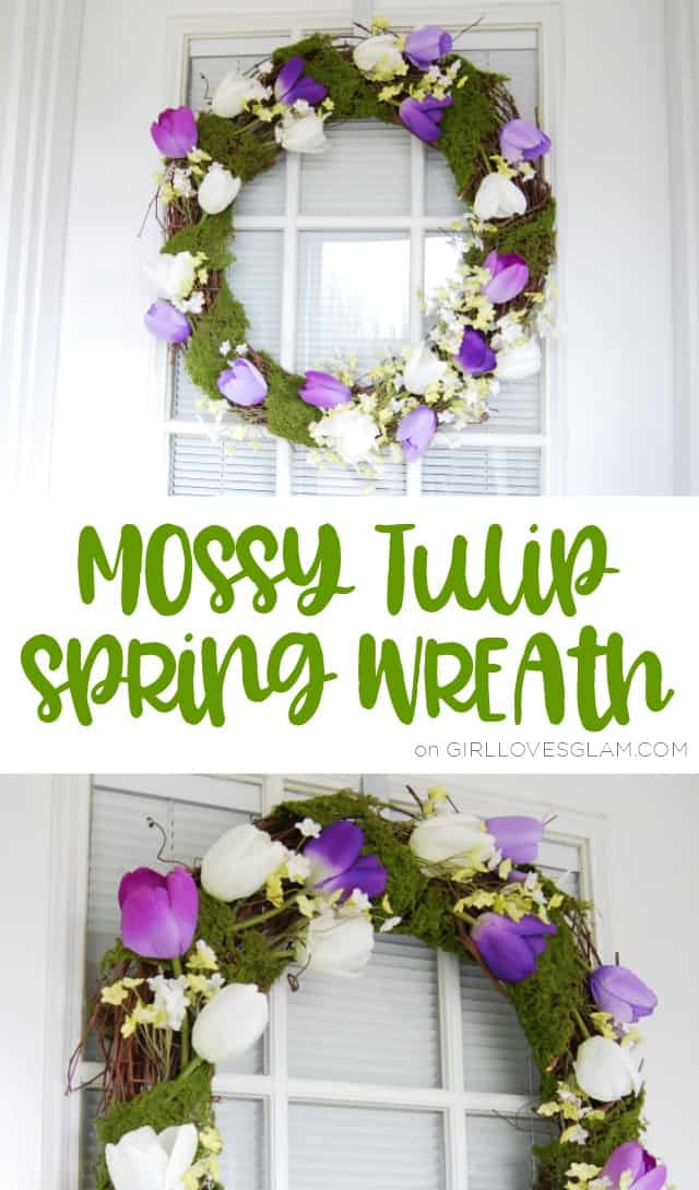 Spring Wreath Mossy Tulip Tutorial