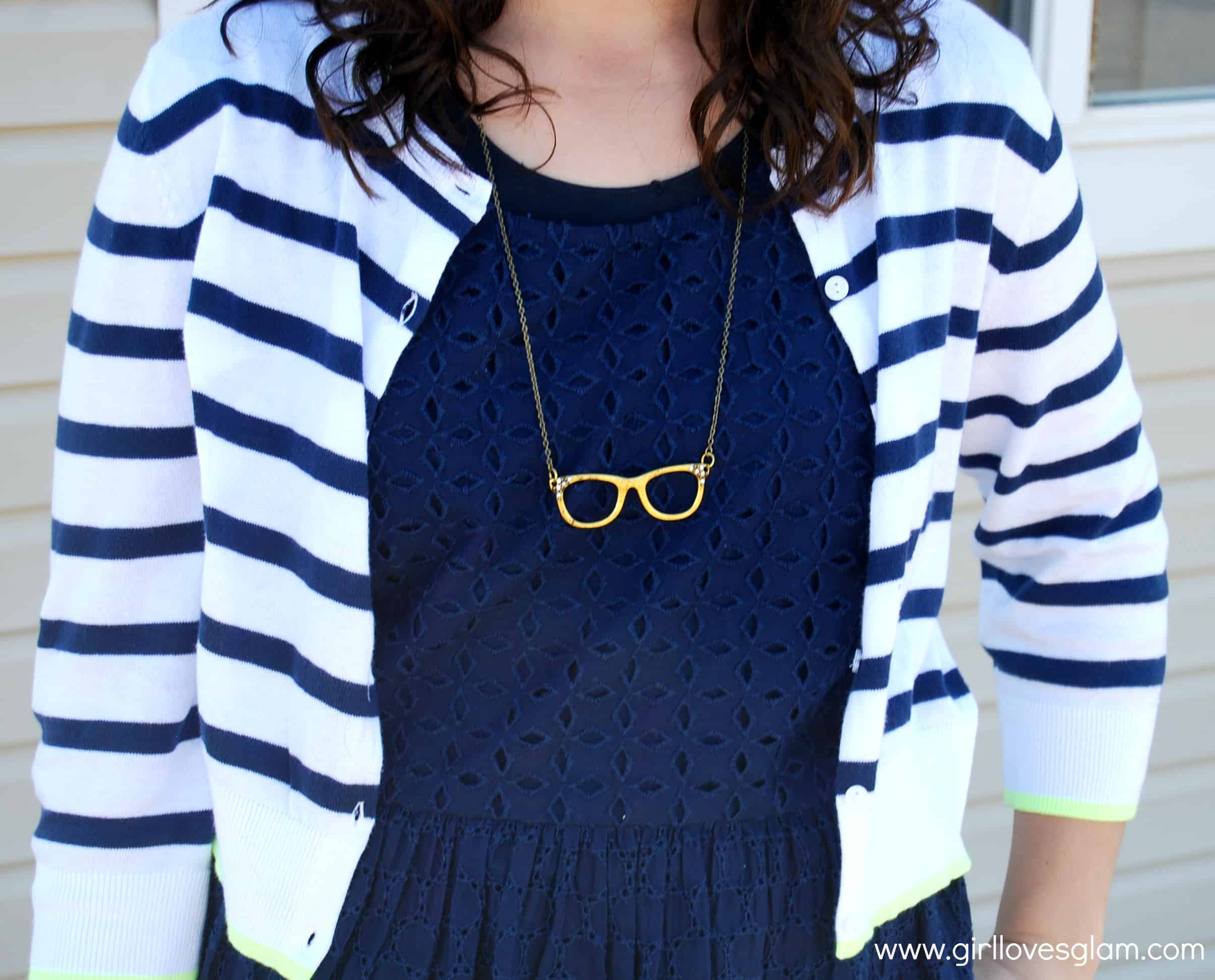 What I Wore: Easter edition on www.girllovesglam.com #diy #necklace #old #navy