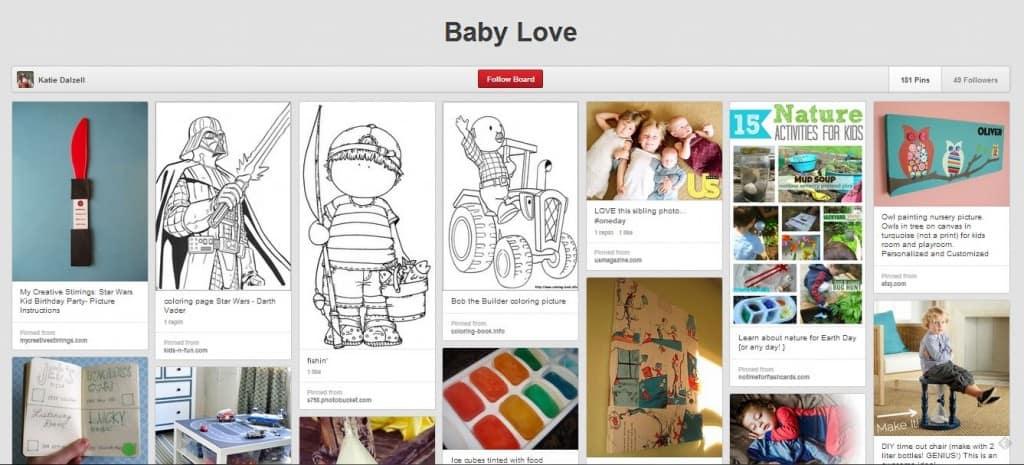 katie dalzell baby love board