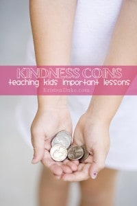 Kindness Coins: Teaching kids important lessons