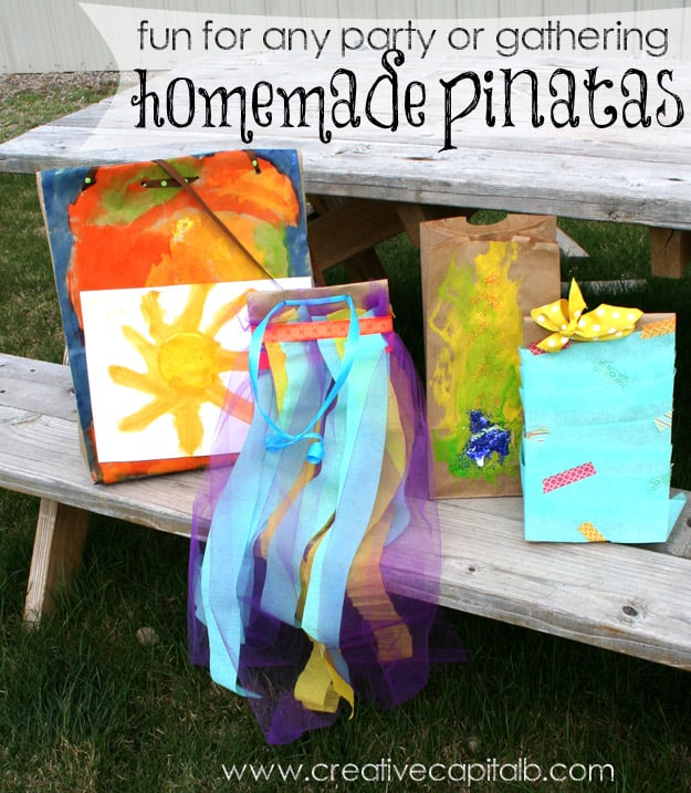 DIY Homemade pinatas made by Capital B part of the Summer Fun Series on www.girllovesglam.com #diy #tutorial