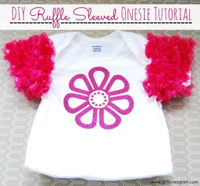 DIY Ruffle Sleeved Onesie Tutorial - Girl Loves Glam