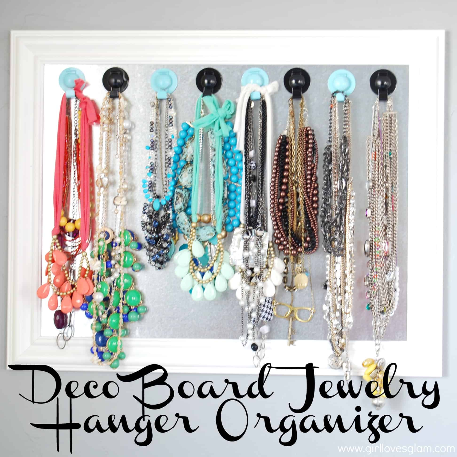 Deco Board Jewelry Hanger Organizer - Girl Loves Glam