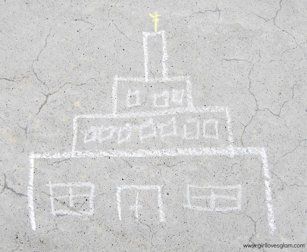 Temple Chalk art for Pictionary game