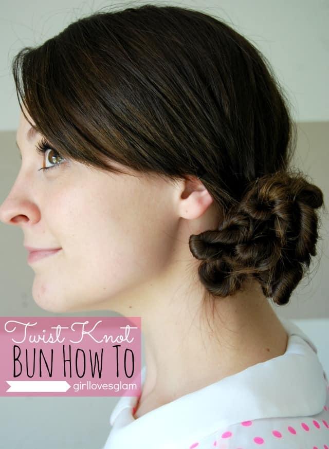 Twist Knot Bun How To Tutorial
