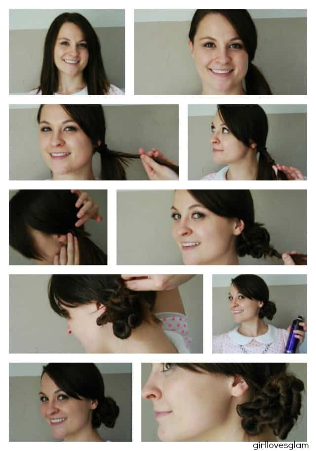 How to do a twist knot bun via www.girllovesglam.com #hair #style #how #to