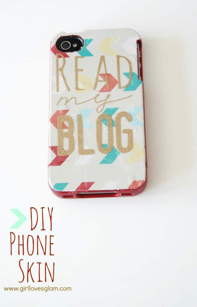 How to make a DIY pattern phone case skin on www.girllovesglam.com #tutorial