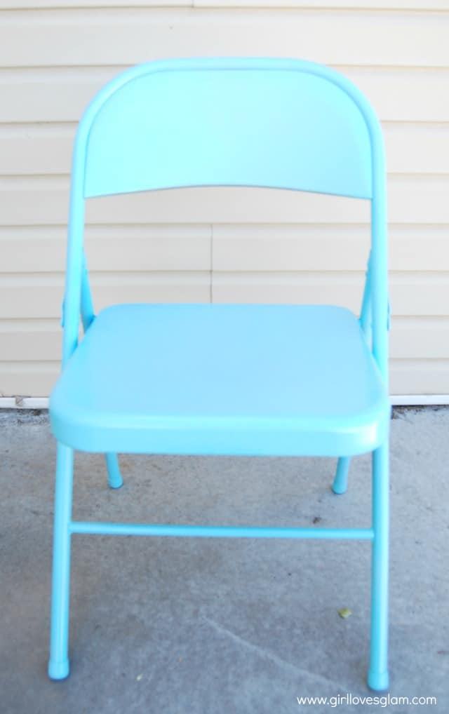 Spray painted folding chair
