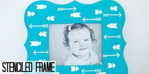 stenciled frame