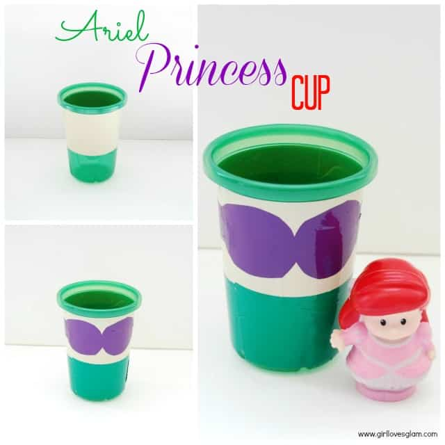 DIY Ariel Disney Princess Cup #tutorial #diy #littlemermaid #disney #craft