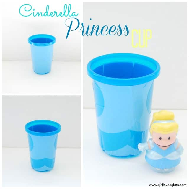 DIY Cinderella Disney Princess Cup on www.girllovesglam.com #diy #tutorial #disney #craft