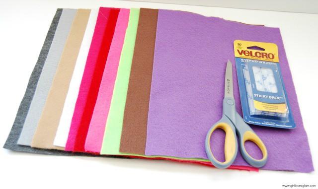 Supplies to make felt Mr. Potato Head on www.girllovesglam.com #tutorial #diy #craft