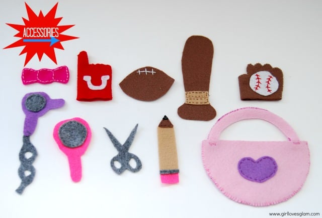 DIY Mr. and Mrs. Potato Head accessories on www.girllovesglam.com #diy #tutorial #felt #toy