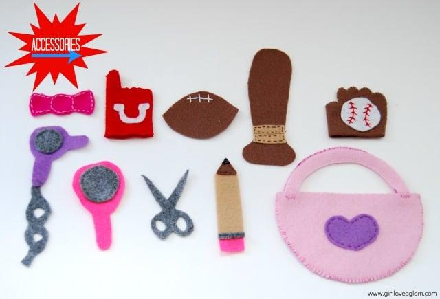 DIY Mr. and Mrs. Potato Head accessories on www.girllovesglam.com #diy #tutorial #felt #toy