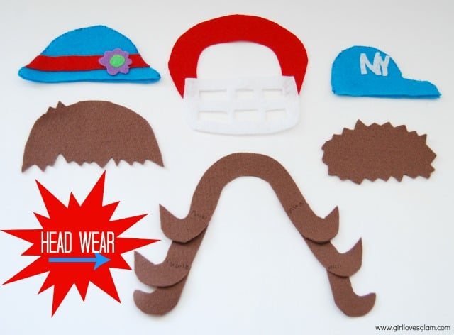 DIY Mr. and Mrs. Potato Head Hair and Hats on www.girllovesglam.com #diy #felt #tutorial