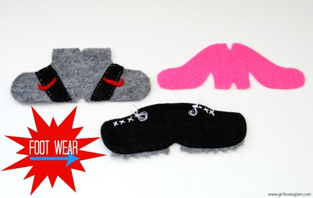 DIY Mr. or Mrs. Potato Head Footwear on www.girllovesglam.com #diy #tutorial #felt