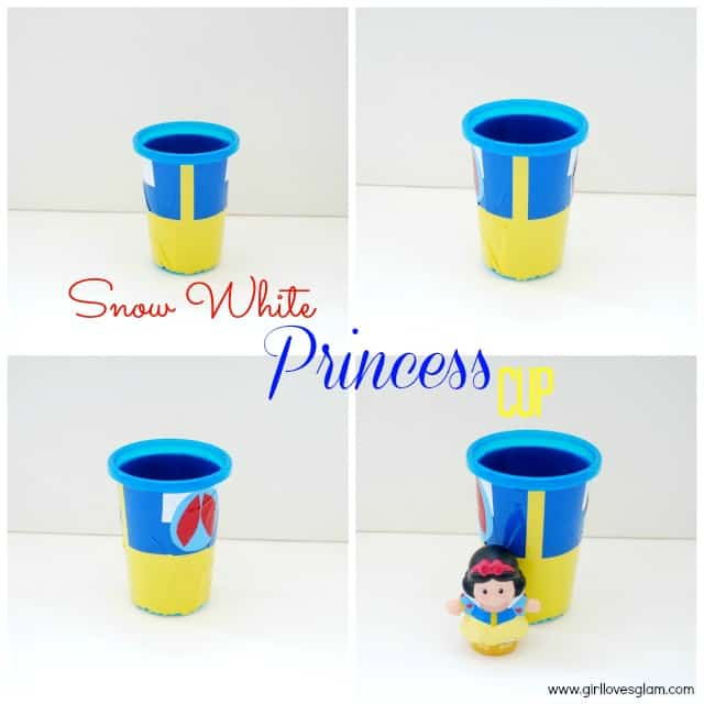 DIY Snow White Disney Princess Cup on www.girllovesglam.com #tutorial #vinyl #project