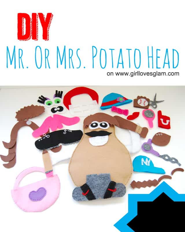 DIY Mr. or Mrs. Potato Head Tutorial on www.girllovesglam.com #toy #game #felt