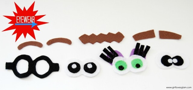 Mr. and Mrs. Potato Head Eyewear parts on www.girllovesglam.com #felt #toy #tutorial
