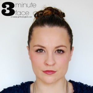 3 Minute Face Makeup Tutorial on www.girllovesglam.com #tutorial #beauty #makeup