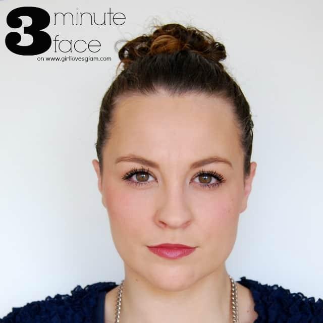 3 Minute Face Makeup Tutorial on www.girllovesglam.com #tutorial #beauty #makeup