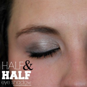 Half and Half Eye Shadow Tutorial on www.girllovesglam.com #makeup #tutorial