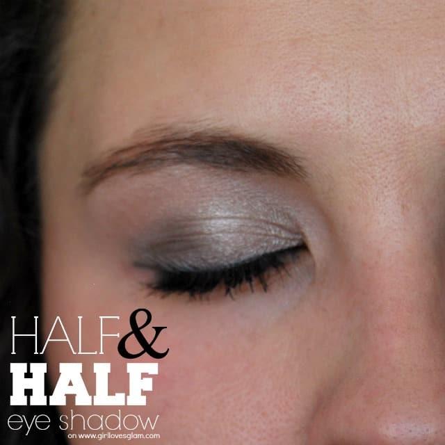 Half and Half Eye Shadow Tutorial on www.girllovesglam.com #makeup #tutorial