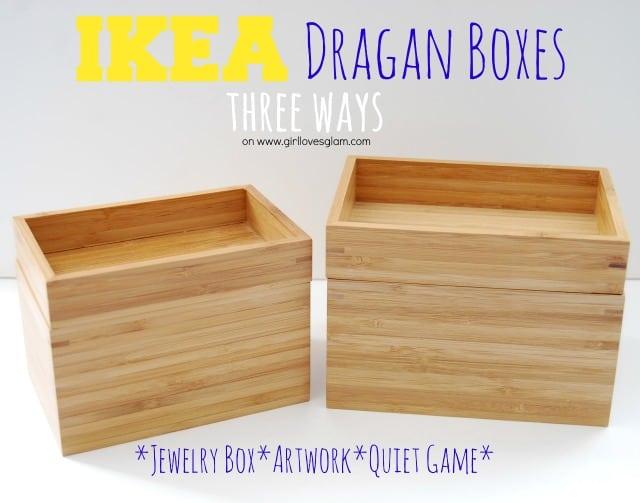 Ikea Dragan Boxes Three Ways