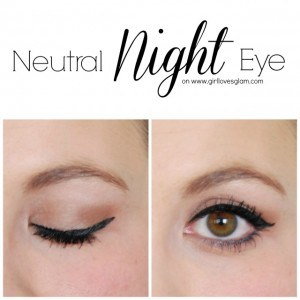 Neutral Night Eye Makeup Tutorial on www.girllovesglam.com #makeup #beauty #tutorial