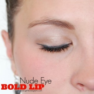 Nude Eye, Bold Lip on www.girllovesglam.com #makeup #tutorial #beauty