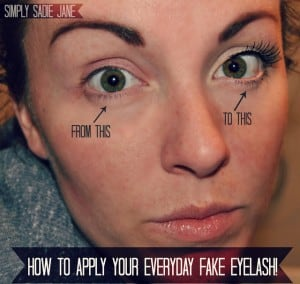 How to Apply Everyday Fake Eyelashes #false #makeup #tutorial