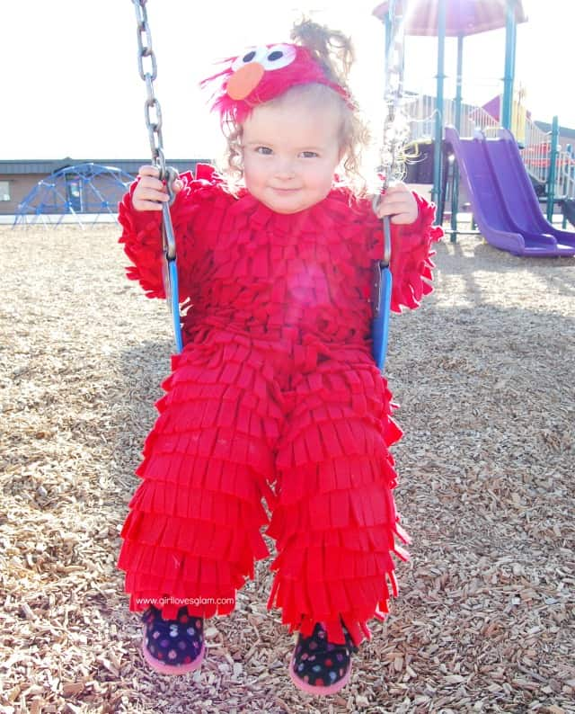 Diy no sew elmo halloween costume girl loves glam diy elmo halloween costume solutioingenieria Choice Image