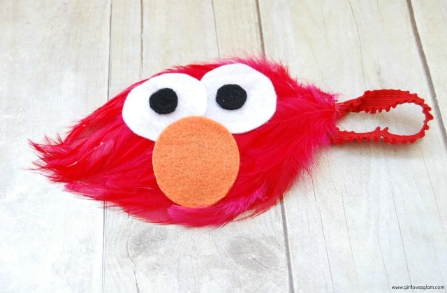 Diy no sew elmo halloween costume girl loves glam elmo headband tutorial solutioingenieria Choice Image