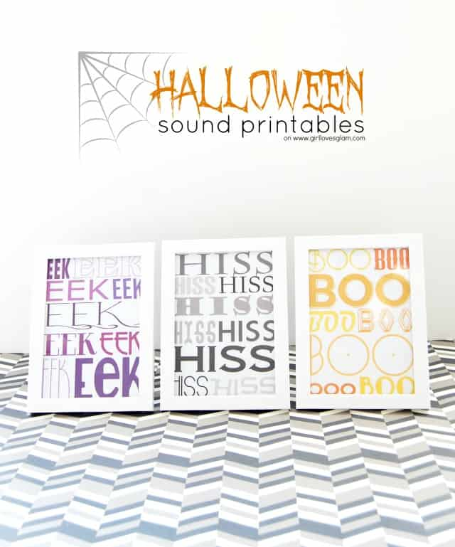 Halloween Sounds Free Printable on www.girllovesglam.com #halloween #decor #print