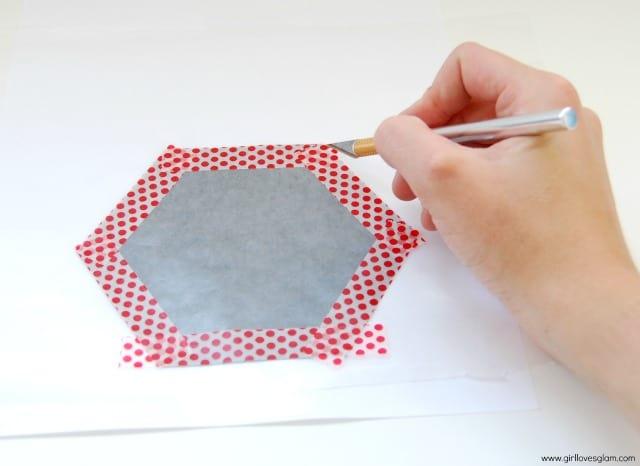 Hexagon Washi Tape Art