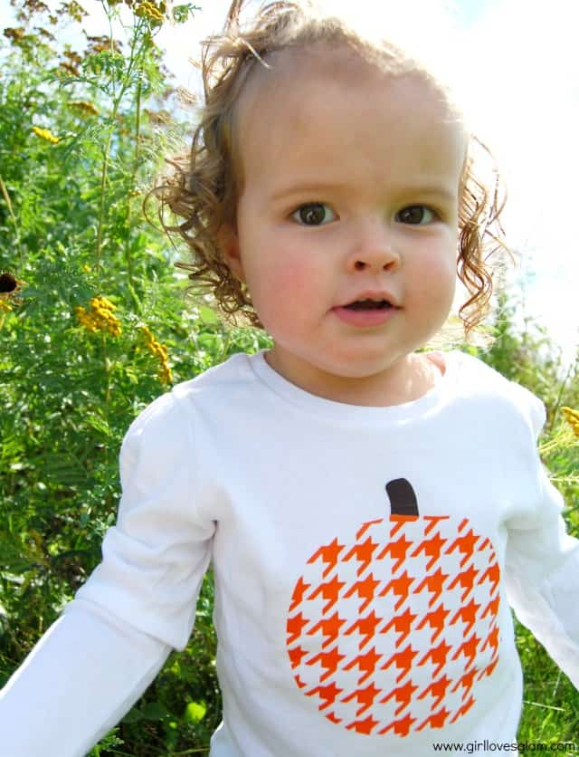 Houndstooth Pumpkin Shirt Tutorial