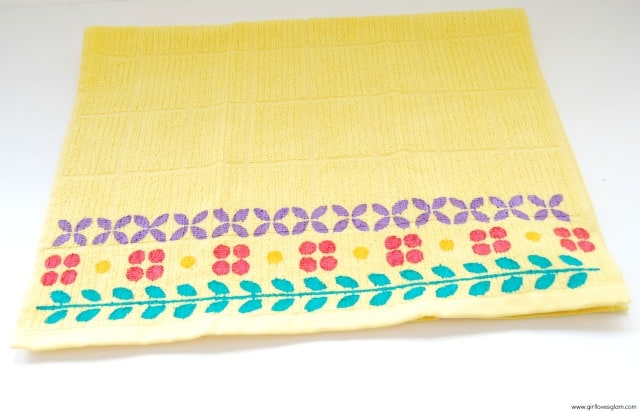 Plaid Handmade Charlotte Stenciled Towel