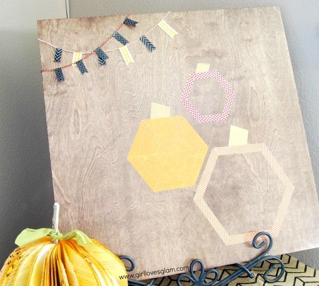 Pumpkin Hexagon Halloween Art