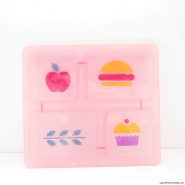 Stenciled Food Group Kid Tray