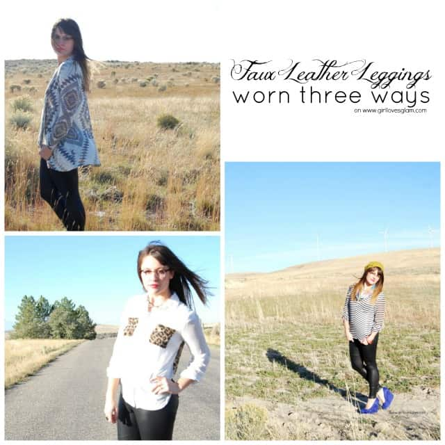 How to wear faux leather leggings three different ways on www.girllovesglam.com #fashion #style #fall