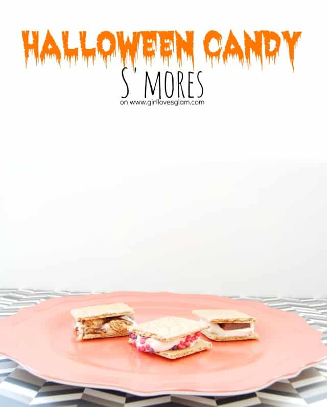 Halloween Candy S'mores on www.girllovesglam.com #shop